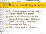 national monitoring scheme