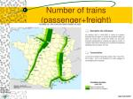 number of trains passenger freight