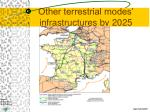 other terrestrial modes infrastructures by 2025