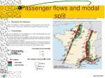 passenger flows and modal split