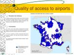 quality of access to airports