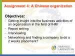 assignment 4 a chinese organization