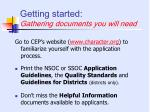 getting started gathering documents you will need