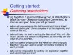 getting started gathering stakeholders