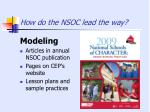 how do the nsoc lead the way1
