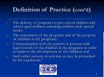 definition of practice cont d