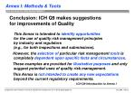 conclusion ich q9 makes suggestions for improvements of quality