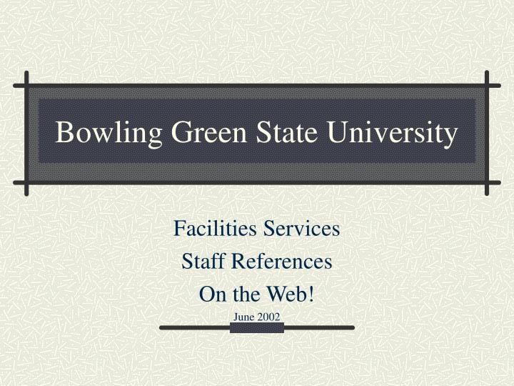 bowling green state university n.