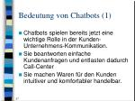 bedeutung von chatbots 1