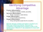 identifying competitive advantage