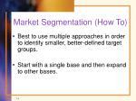 market segmentation how to