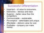 successful differentiation