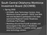 south central oklahoma workforce investment board scowib
