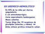 sx uremico hemolitico