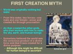 first creation myth