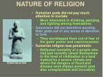 nature of religion