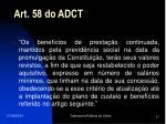 art 58 do adct