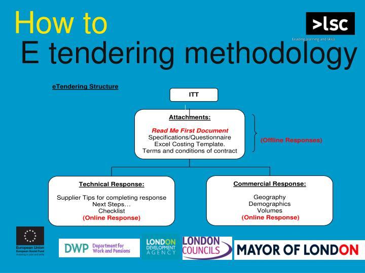 E tendering methodology