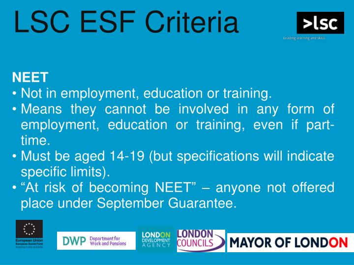 LSC ESF Criteria