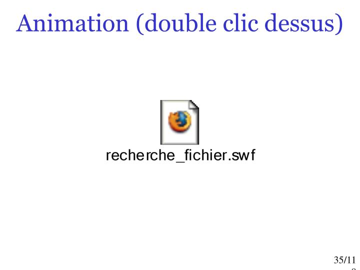 Animation (double clic dessus)