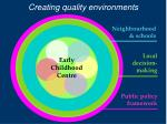 creating quality environments