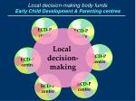 local decision making body funds early child development parenting centres