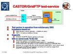 castor gridftp test service
