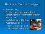konkretes beispiel religion