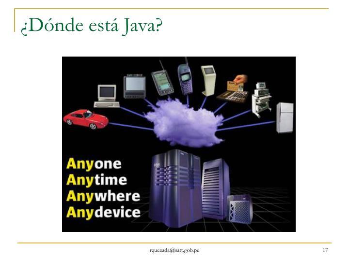 ¿Dónde está Java?