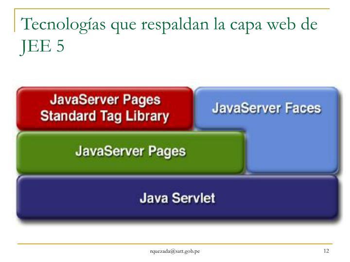 Tecnologías que respaldan la capa web de JEE 5