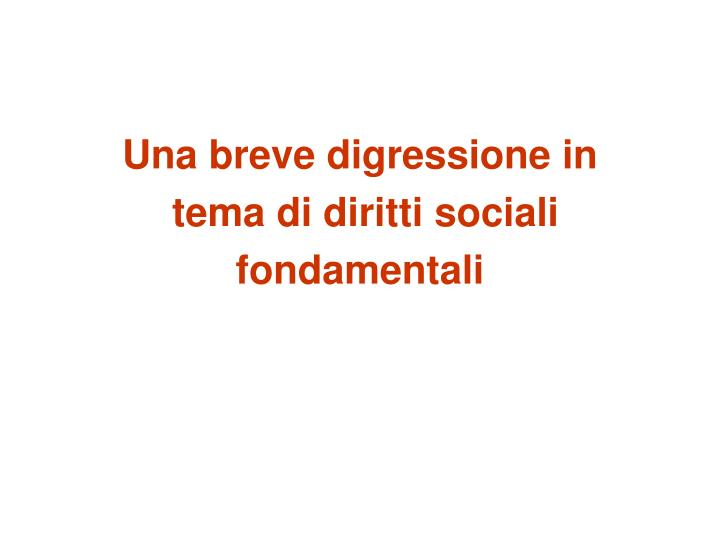 Una breve digressione in