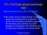 fc full cost actual overhead rate