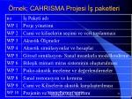 rnek cahrisma projesi paketleri