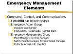 emergency management elements1