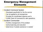 emergency management elements2