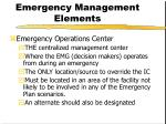 emergency management elements5