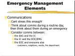 emergency management elements7