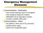 emergency management elements9
