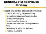 general hm response strategy