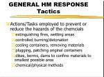 general hm response tactics1