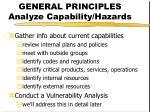 general principles analyze capability hazards