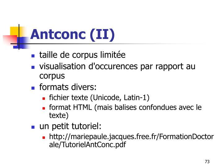Antconc (II)