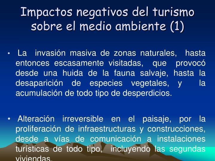 Impactos negativos del turismo sobre el medio ambiente (1)