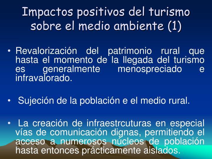 Impactos positivos del turismo sobre el medio ambiente (1)