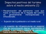 impactos positivos del turismo sobre el medio ambiente 1