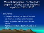 manuel marchena actividad y empleo tur stico en las regiones espa olas 1991 1995