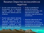 resumen impactos socioecon micos negativos
