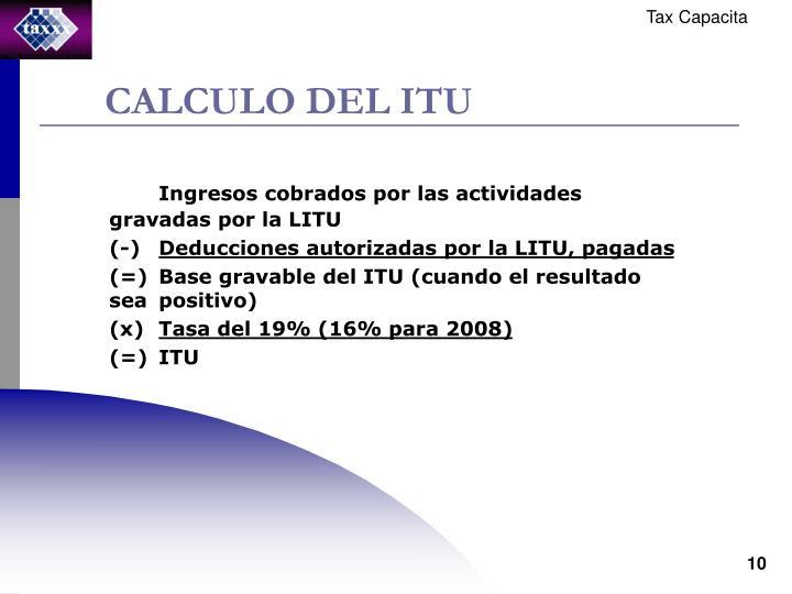 CALCULO DEL ITU