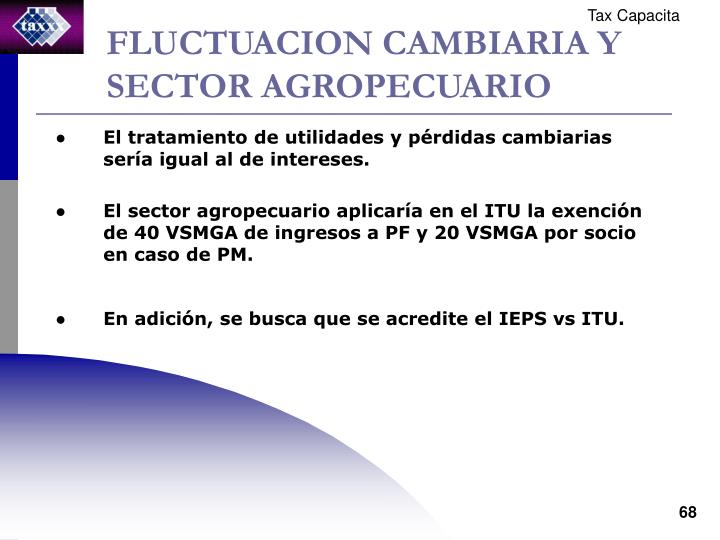 FLUCTUACION CAMBIARIA Y SECTOR AGROPECUARIO