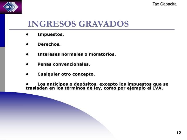 INGRESOS GRAVADOS